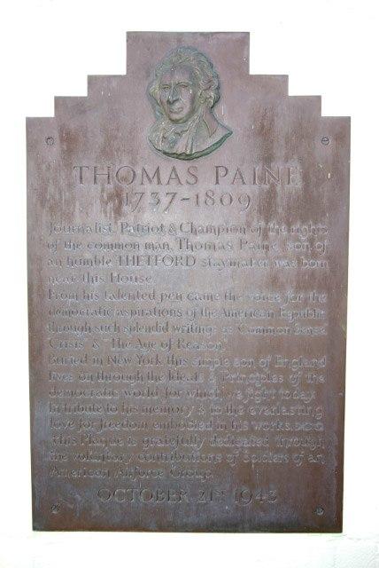 Thomas Paine Commemorative Plaque - geograph.org.uk - 311958
