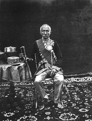 John Thomson (photographer) - King Mongkut of Siam, Bangkok (European Dress), 1865–1866