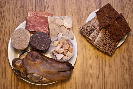 A typical Þorramatur assortment - Iceland