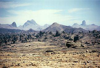 Landscape in the Tibesti east of Bardai