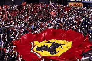 Supporters de Ferrari lors du Grand Prix de Mo...