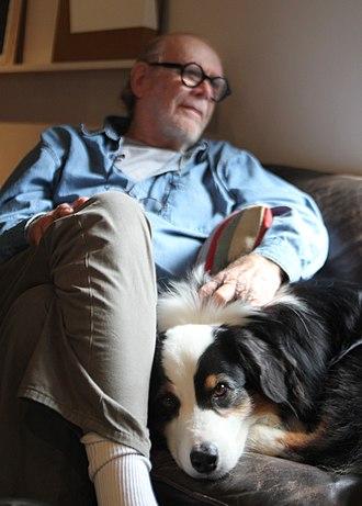 Tony DeLap - DeLap with Goky at home in Corona del Mar, CA