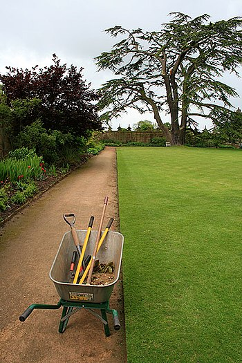 "English: Tools Await the Gardener In the ""..."