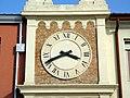 Torre dell'orologio, dettaglio quadrante (Terrassa Padovana).jpg