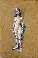 Toulouse-Lautrec - FEMME NUE DEBOUT DE FACE, 1898, MTL.199.jpg