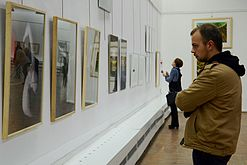 Tour de Belarus Exhibition of drawings in Palace of Art 23.10.2014 Roman Sustov.JPG