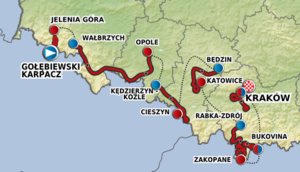 2012 Tour de Pologne - Route of the 2012 Tour de Pologne.
