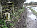Towpath passing milestone 20 - geograph.org.uk - 1802901.jpg