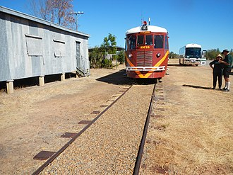 Blackbull, Queensland - The Gulflander stopped at Blackbull siding, 2013