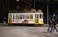 Tram by night (34595570760).jpg