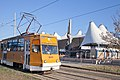 Tram in Sofia in front of Central Railway Station 2012 PD 076.jpg