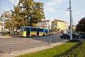 Tram in Sofia near Russian monument 048.jpg