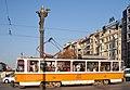 Tram in Sofia near Sofia statue 2012 PD 032.jpg