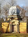 Trauerhalle von 1888 Jüdischer Friedhof Güterseeweg Köthen Aufnahme MEH Bergmann 27 Februar 2016.JPG