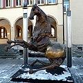 Tre Cavalli by Nag Arnoldi , 2002, Bronze. Vaduz, Liechtenstein. Вадуц, Лихтенштейн - panoramio.jpg