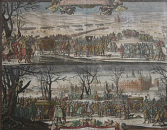 Treaties of Roskilde (1568) - The procession to Frederiksborg Castle for the peace banquet following the signing of the Treaty of Roskilde