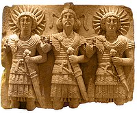 Relief of three human-appearing Palmyrene gods