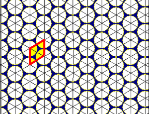 Circle packing - Image: Triangular tiling circle packing