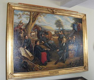 Fighting McCooks - painting of 'Tribe of Dan' at Daniel McCook House