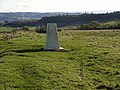 Trig pillar at Limestone Corner - geograph.org.uk - 1017671.jpg