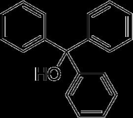 Triphenylmethanol Structure