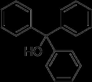 Triphenylmethanol - Image: Triphenylmethanol