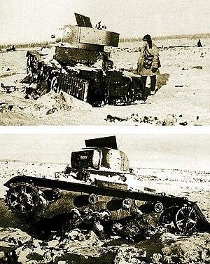 Military robot - Soviet TT-26 teletank, February 1940