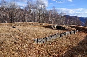 Costești-Blidaru Dacian fortress - Image: Turn locuinta