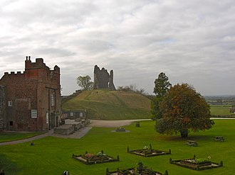 Tutbury Castle - Tutbury Castle viewed from the east wall