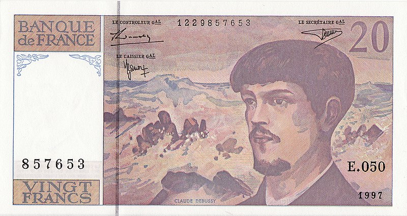File:Twenty franc banknote claude debussy.JPG