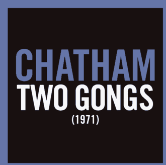 Rhys Chatham - Two Gongs (1971) album cover.