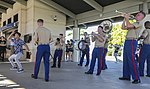 U.S. Marine Corps Forces, Pacific Band plays at the USS Arizona Memorial Visitor Center 161206-M-AR450-1193.jpg