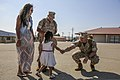 U.S. Marines with the 1st Battalion, 5th Marine Regiment, assigned to Marine Rotational Force-Darwin, exchange greetings with friends and family members during a homecoming event at Marine Corps Base Camp 141020-M-SE196-013.jpg