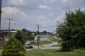 Amherst County, Virginia - Looking towards U.S. 29 in Madison Heights