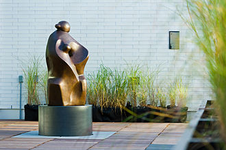 """Allan Houser - """"Legends Begin,"""" bronze, at Allard Hall Law School building in Vancouver"""