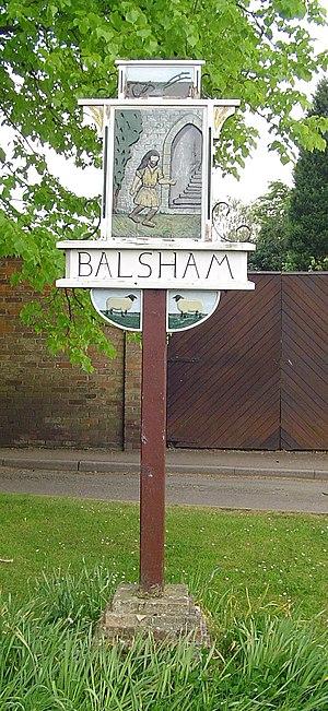 Balsham - The Balsham village sign