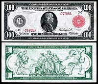 United States One Hundred Dollar Bill Wikipedia