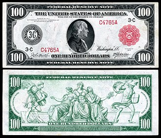 United States one hundred-dollar bill - 1914 $100 Federal Reserve Note