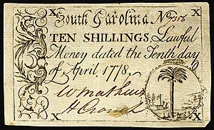 South Carolina pound - Image: US Colonial (SC 149) South Carolina 10 April 1778