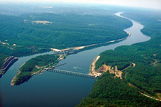Black Warrior River - Image: USACE Bankhead Lock and Dam Alabama