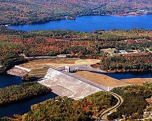 Pemigewasset River - Franklin Falls Dam and Lake on the Pemigewasset River in Merrimack County