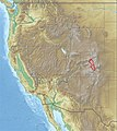 USA Region West relief Sawatch Range location map.jpg