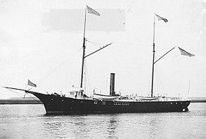 USC&GS A. D. Bache (1871) - Image: USCGS ship Bache 1889 monochrome