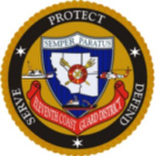 Coast Guard Island - USCG 11th District emblem