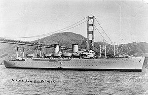 USS Admiral C. F. Hughes (AP-124) - Image: USNS General Edwin D. Patrick (T AP 124)