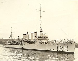 USS Badger (DD-126), in the 1930s