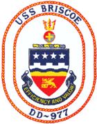 USS Briscoe (DD-977) patch