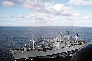 USS Charleston (LKA-113) - Image: USS Charleston (LKA 113) underway 1988