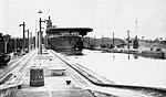 USS Leyte (CV-32) leaving Panama Canal lock in 1946.jpg