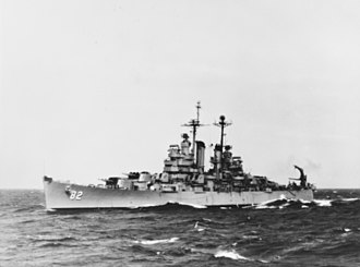 USS Providence (CL-82) - Providence (CL-82) as a gun cruiser in the late 1940s.